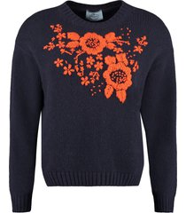 prada virgin wool and cashmere pullover