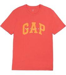 camiseta coral-naranja gap