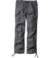 pantalone di lino regular fit straight (grigio) - bpc bonprix collection