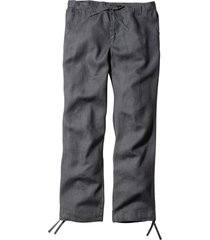 pantaloni in lino regular fit straight (grigio) - bpc bonprix collection