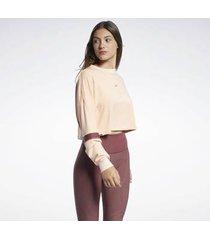 sweater reebok sport les mills® lightweight french terry crew sweatshirt