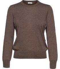 merino r-neck sweater gebreide trui bruin filippa k