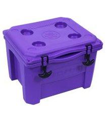 caixa térmica cooler 15 litros lilás brudden náutica
