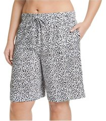 jockey plus size cotton bermuda sleep shorts