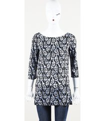 prada floral print tunic top