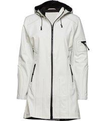 hip-length softshell raincoat regenkleding wit ilse jacobsen