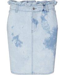 rok met tie-dye effect may  blauw