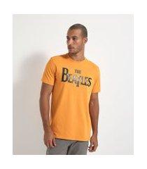 camiseta com estampa the beatles | the beatles | amarelo | m