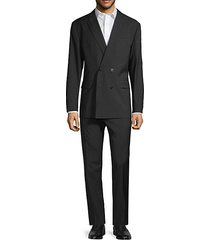 standard-fit double-breasted pinstripe virgin wool suit