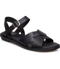 willow gild shoes summer shoes flat sandals svart clarks