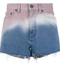 baggy tie-dye denim shorts