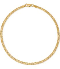 giani bernini mariner link ankle bracelet in 18k gold-plated sterling silver, created for macy's