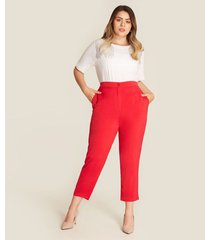 pantalon capri bota recta unicolor