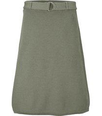 ribbstickad kjol med skärp