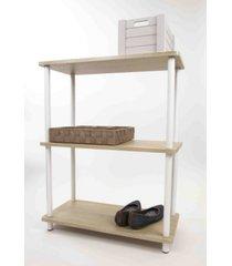 home basics pine wood 3 tier rectangular corner shelf