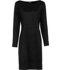 abito in similpelle scamosciata (nero) - bodyflirt