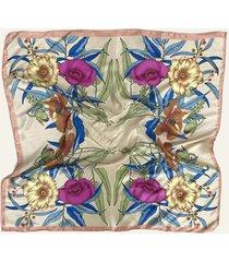 pañuelo beige nuevas historias par de flores ba1396-13