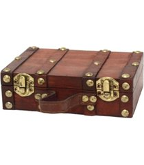 vintiquewise antique style small mini suitcase
