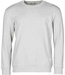 sweater lee sustainable crew sws grey mele