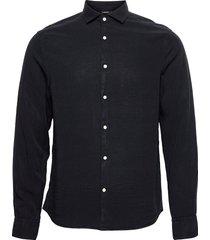 comfort tencel slim shirt skjorta casual blå j. lindeberg