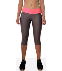 leggings corto deportivo mujer tykhe rosa gris oscuro