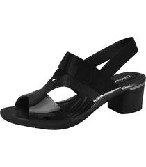 sandalia amarante negro comfortflex
