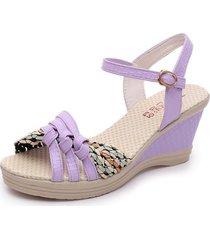 cuña sandalias de mujer plataforma tacones altos