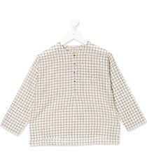 caramel pimlico half-buttoned shirt - neutrals