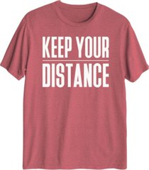 keep your distance men's graphic t-shirt