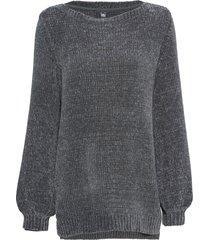 maglione lungo in ciniglia (grigio) - rainbow