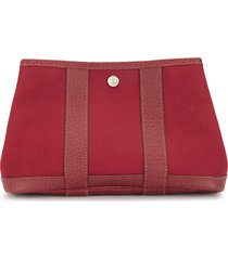 hermès 2008 pre-owned garden party pouch - red