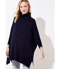 loft maternity turtleneck poncho sweater