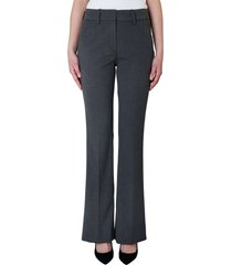 five units clara long flare pantalon theory grey