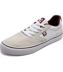 tenis skateboarding gris-blanco-vinotinto dc shoes rowland sd