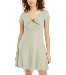 planet gold juniors' tie-detail skater dress