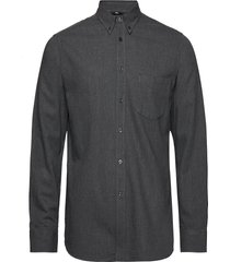 daniel-light flannel overhemd casual grijs j. lindeberg