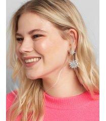 lane bryant women's double-starburst drop earrings onesz silver tone