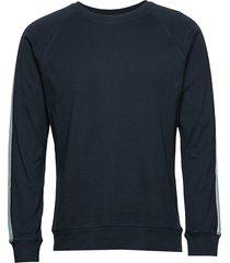 cotton rib stelt tape sweat-shirt tröja blå mads nørgaard