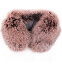 ar by aloha rag ar by aloha purple fox fur collar stole scarf purple sz: os