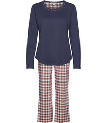 cotton flannel pyjamas pyjamas blå lady avenue