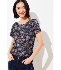 loft floral drop shoulder tee