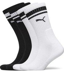 puma crew heritage stripe 4p unisex underwear socks regular socks svart puma