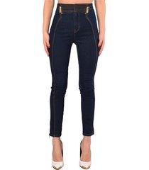 jeans skinny con bustino alto