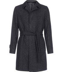 tagliatore virgin wool belted coat