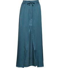 evert skirt lång kjol blå iben