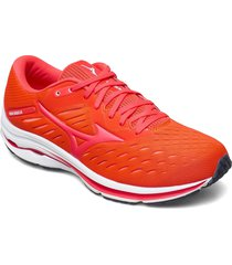 wave rider 24 shoes sport shoes running shoes orange mizuno