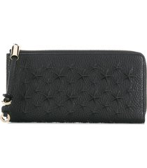 jimmy choo star-studded wallet - black