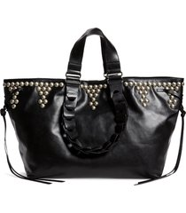 isabel marant wardy studded leather tote -
