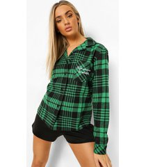 flanelen kiss me under the mistletoe pyjama blouse, green