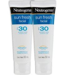kit 2 protetor solar facial neutrogena sun fresh fps 30 50g
